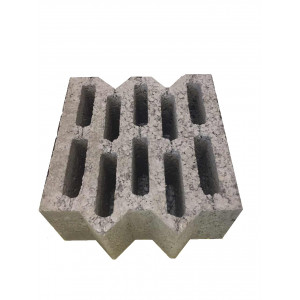 Перегородочный пустотелый керамзитобетоный блок 390х90х188 мм пазогребневый