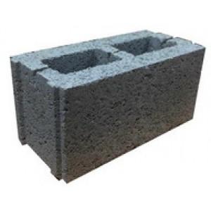 Перегородочный пустотелый керамзитобетоный блок 200х200х400 мм пазогребневый / с утеплителем