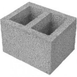 Вентеляционный керамзитобетоный блок 390х120х188 мм