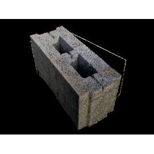 Перегородочный пустотелый керамзитобетоный блок 200х200х400 мм пазогребневый