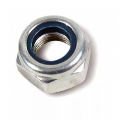 Гайка с нейлоновым кольцом самостопорящаяся шестигранная М6 Качественный крепеж 270 шт.