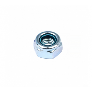 Гайка М5 белый цинк самоконтрящаяся Стройбат DIN 985
