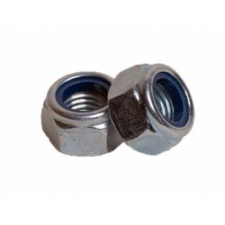 Гайка белый цинк шестигранная со стопорным кольцом М6 Бифаст 1000 шт.