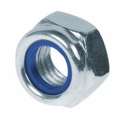 Гайка шестигранная со стопорным нейлоновым кольцом высокая М12 Bullit 20 шт.