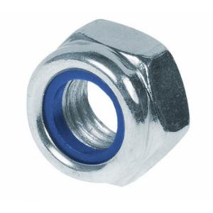 Гайка М12 шестигранная со стопорным нейлоновым кольцом высокая Bullit DIN 985