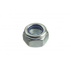 Гайка М8 оцинкованная шестигранная со стопорным кольцом Профикреп DIN 985