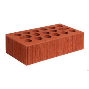 Керамический фасадный одинарный кирпич красный бархат Керма М-150